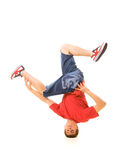 B-boy freeze on head royalty free stock images