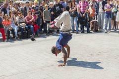 B-boy in Paris - France. Royalty Free Stock Image