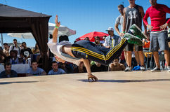 B-Boying crews warmup Royalty Free Stock Image