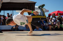 B-Boying crews warmup Royalty Free Stock Photography