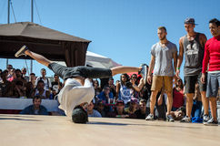 B-Boying crews warmup Stock Image