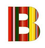 B-Buchstabe in den bunten Linien auf weißem Hintergrund Stockfotografie
