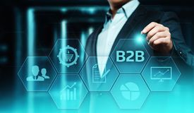 B2B Business Company Commerce Technology Marketing concept stock photography