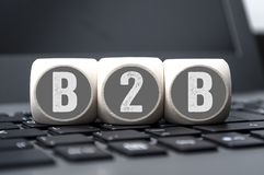 B2B Business Cubes royalty free stock photography