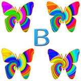 B is for Butterfly Royalty Free Stock Photos