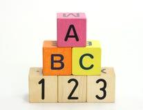 b c在编号上写字 免版税库存照片