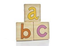 b c拼写铺磁砖木 库存照片