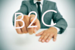 B2C, επιχείρηση--καταναλωτής στοκ φωτογραφία με δικαίωμα ελεύθερης χρήσης