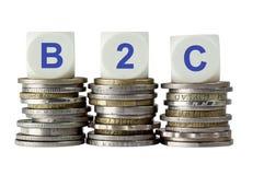 B2C- Affär till konsumenten Royaltyfri Fotografi