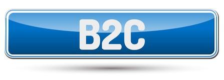 B2C - Beau bouton abstrait avec le texte Image stock