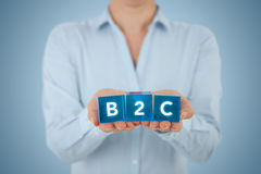B2c biznes konsument Zdjęcia Royalty Free