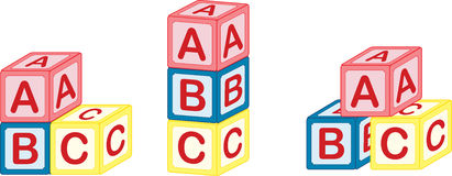 A, B, C block. A, B, C learning Block for kids royalty free illustration