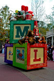 A,B,C building blocks in Disney World Parade. Royalty Free Stock Photography