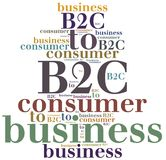 B2C. Business to consumer. Royalty Free Stock Photos