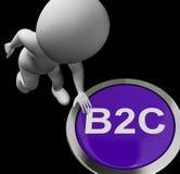 B2C Button Shows Company公司顾客和换 库存照片