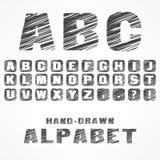 A B C caps alphabet Stock Images