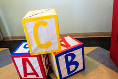 A B C Children`s  blocks Royalty Free Stock Images