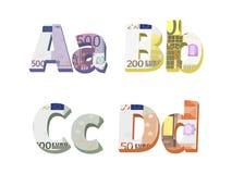 A;b;c;d信件 免版税图库摄影