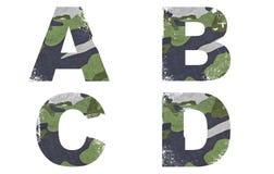 A, b, C, d abecadło Od Militarnej tkaniny tekstury. Fotografia Royalty Free