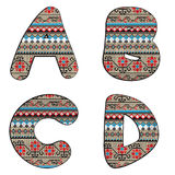 A B C D decor letters Royalty Free Stock Photo