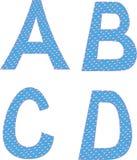 A B C D letters symbols alphabet Stock Photos