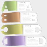 A-b-c-d paper cutoff options Royalty Free Stock Photos