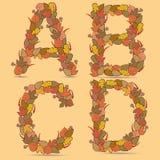 A, B, C, de Vector kleurrijke doopvont van D. Royalty-vrije Stock Afbeelding