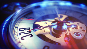 B2C - Expression sur la montre de poche 3d rendent Images stock