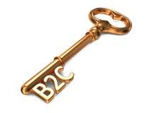B2C - Golden Key. Royalty Free Stock Photo