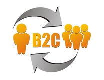 B2C-Illustration Lizenzfreies Stockbild