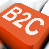 B2c Key Means Business To Consumer Selling Or Buying Stock Photo