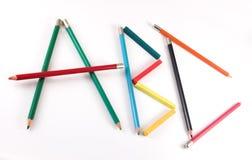 A, B, C in kleurenpotloden Royalty-vrije Stock Afbeeldingen