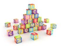 A, B, c-kubussenpyramide Stock Foto