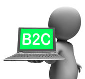 B2c Laptop Character Shows Retail Business To Customer Or Consum Stock Photo