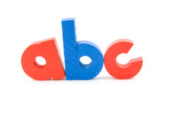 A b c letters Royalty Free Stock Image