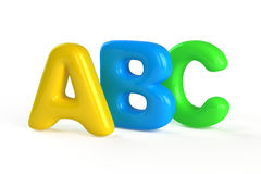 A,B,C letters Stock Photos