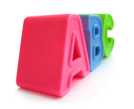 A, B, C letters - alphabet, literacy, education Royalty Free Stock Photography