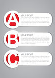 A B C Options Vector Labels Royalty Free Stock Photos