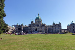 B.C. Parliament. Victoria,Canada-June 30th,2015: visitors walking in front of Parliament Building in Victoria,British Columbia,Canada Royalty Free Stock Photos