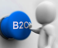 B2C Pressed Shows Business To Consumer And Selling Royalty Free Stock Photo