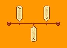 A B C Progress infographic flat design. Vector. eps10 vector illustration