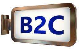 B2c sur le fond de panneau d'affichage Photo libre de droits
