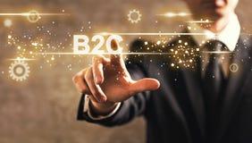 B2C tekst z biznesmenem Fotografia Stock