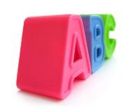 A, B, cartas de C - alfabeto, instrucción, educación Fotografía de archivo libre de regalías