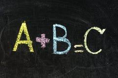 A+B chalk board