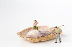 Bûcheron avec l'arachide Image libre de droits