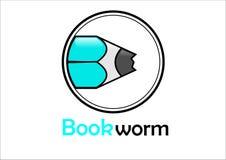 b?cherwurm stock abbildung