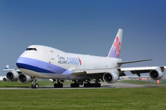 B747 China Airlines ładunek obraz royalty free