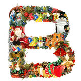 b christmas decoration letter Στοκ Εικόνα