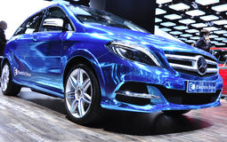 B Class Electric Drive at Paris Car Show Royalty Free Stock Photo